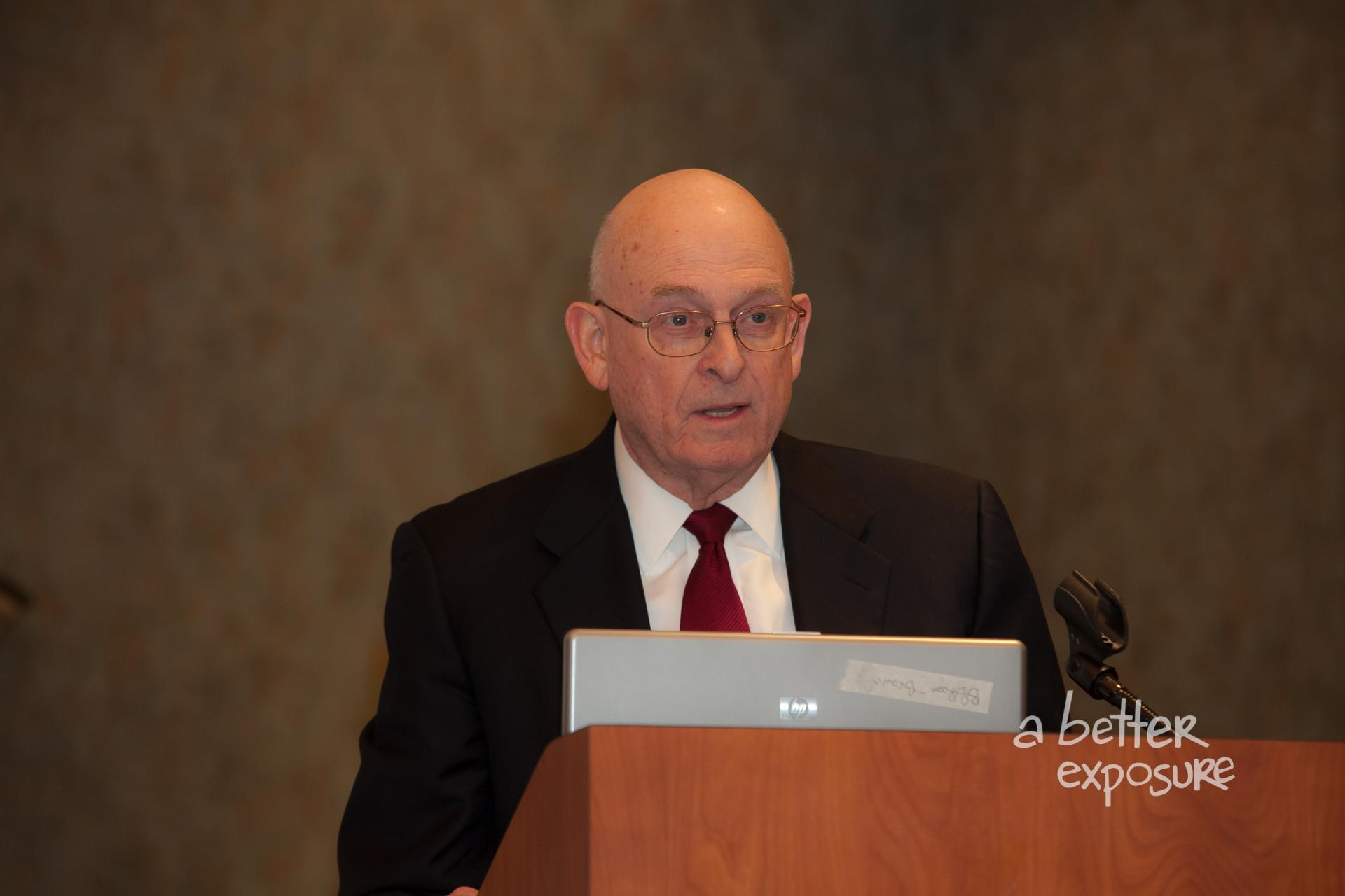 Lawrence Gibbs, former IRS Commissioner, delivers the keynote address